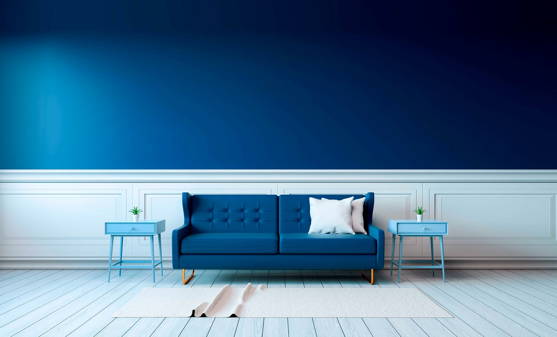 ideas de paleta de colores para sala de estar Pinturas Klor